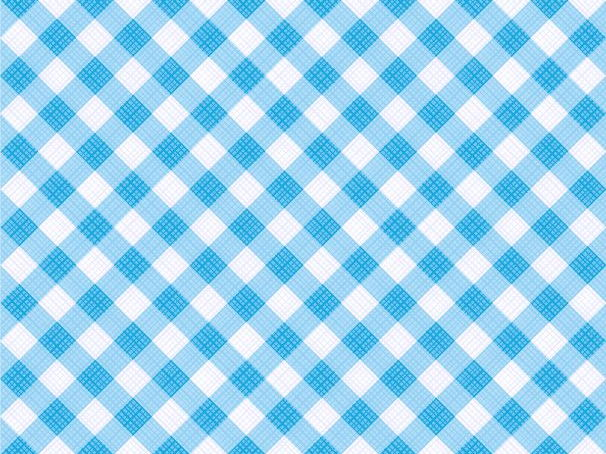 Seamless Blue Diagonal Gingham Pattern