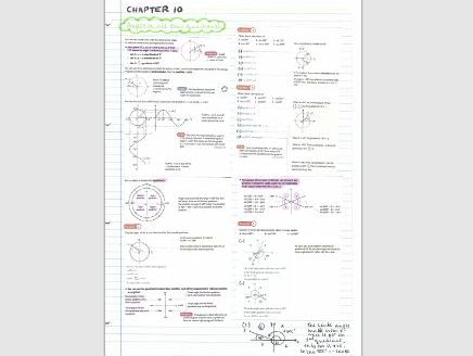 AS Pure Maths notes- Chapter 10 (Trigonometric identities & equations)
