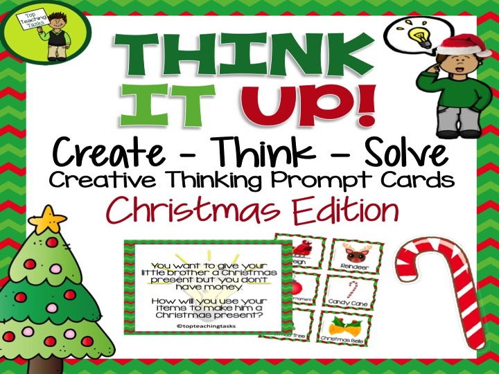 Create - Think - Solve Creative Thinking Prompt Cards - Christmas Edition