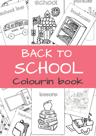 Back to school colouring book