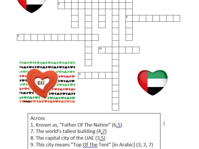 UAE Social Studies Consolidation Xword