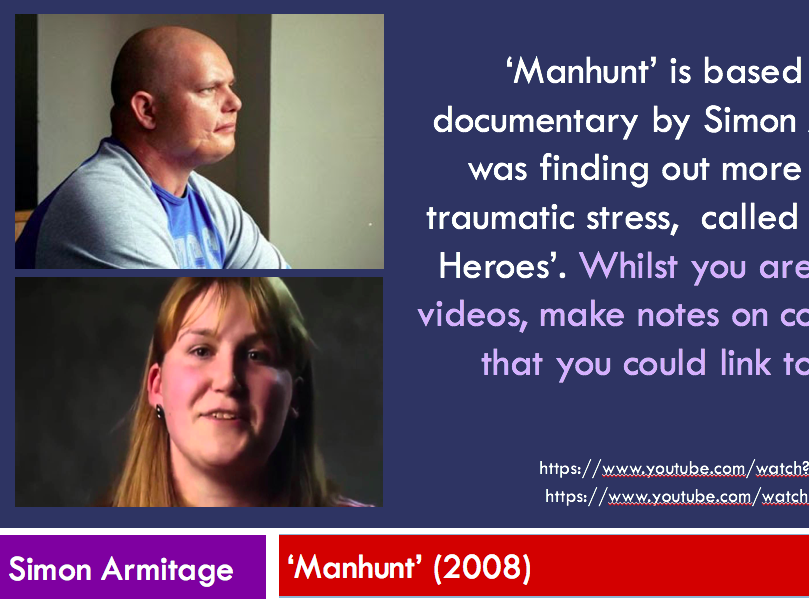 Manhunt - Simon Armitage