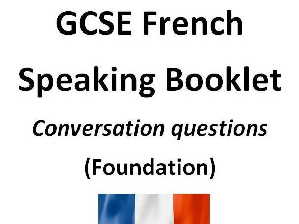 GCSE AQA French conversation questions - Foundation
