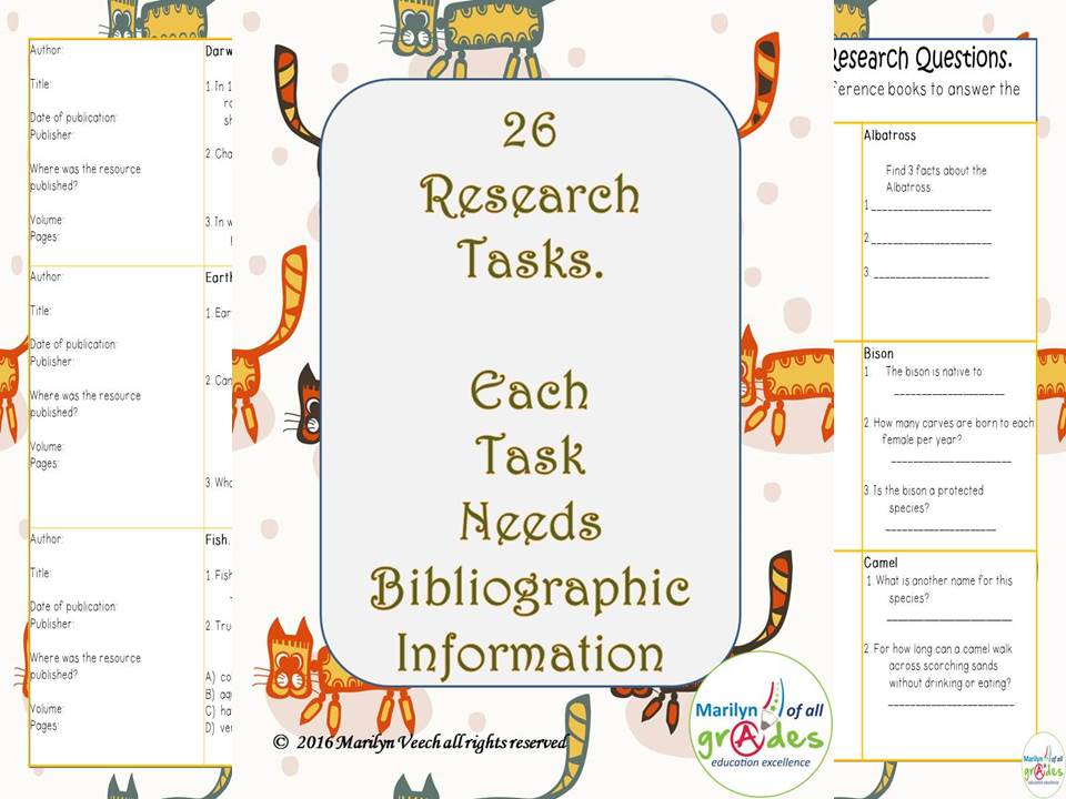 26 Research  Tasks. Each Task Needs  Bibliographic  Information