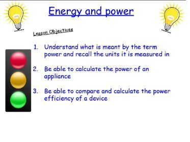 P1.9 Energy and power