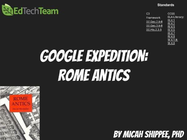 Rome Antics #GoogleExpedition