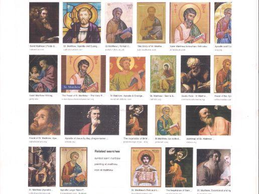Saint Matthew    Feast day  21st September