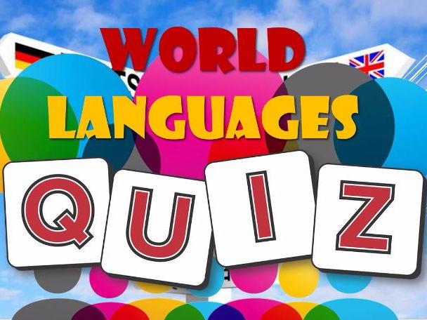 Summer 2017: World Languages: Quiz