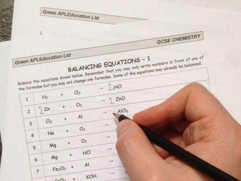 FREE Chemistry: Balancing Equations