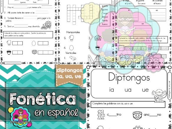 Spanish Phonics Book Set #14: Diptongos ia, ua, ue
