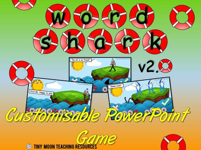 NEW Word Shark / Hangman PowerPoint Activity
