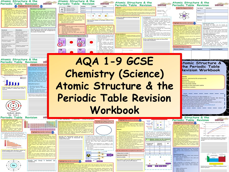 AQA 1-9 GCSE Chemistry (Science) Atomic Structure & Periodic Table Chemistry Revision Workbook
