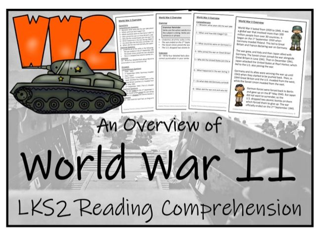 LKS2 History - World War II Reading Comprehension Activity