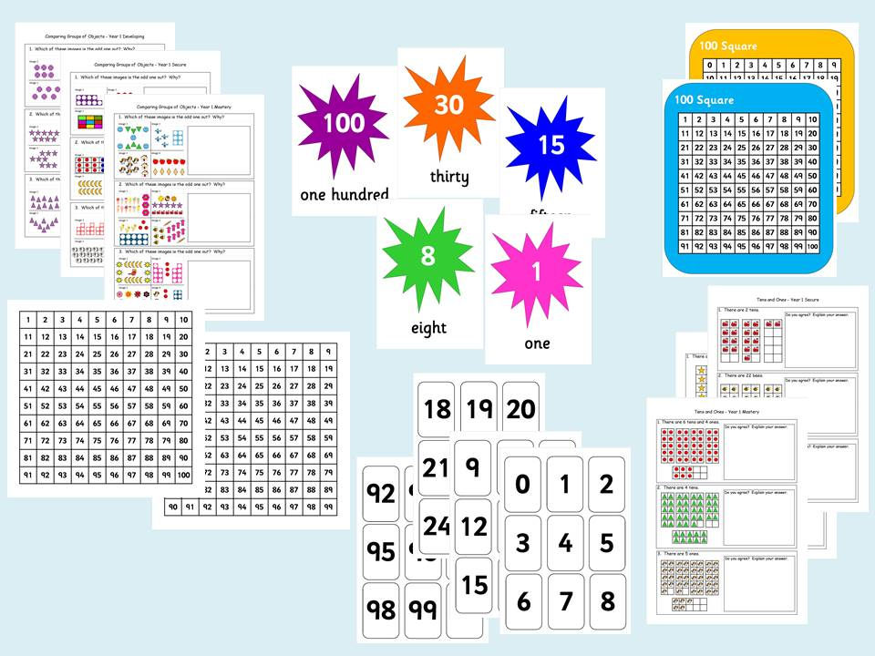 Year 1 Maths Activity Bundle with Reasoning and Problem Solving (3 levels)