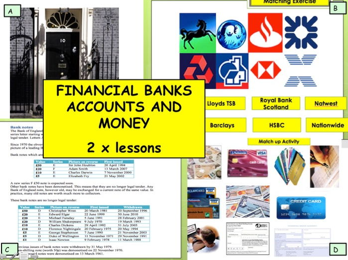 Financial Education - Bank accounts and Money Campaign Campaign