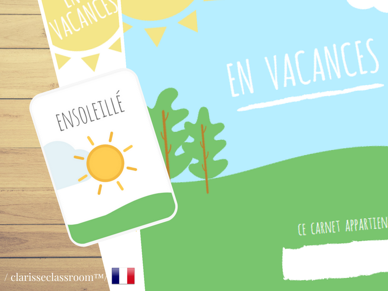 My French Travel Journal⎜Kids Travel Journal⎜En Vacances⎜Travel Planner⎜Games and Flash Cards