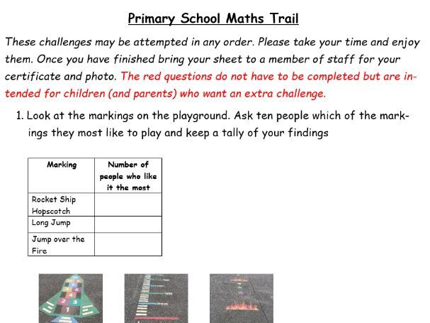 Primary School Maths Trail