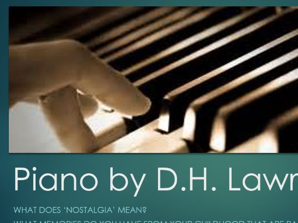 IGCSE 'Piano' by D.H. Lawrence Lesson