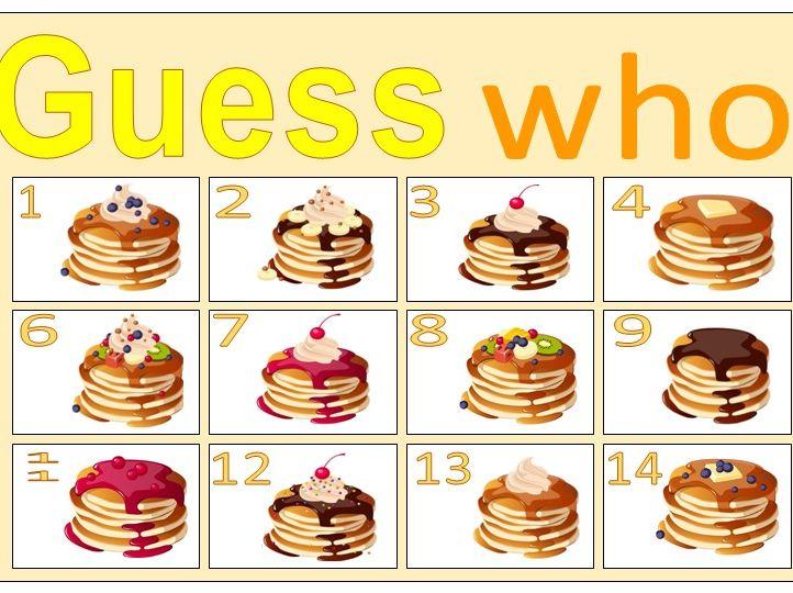 Pancake Day Guess Who