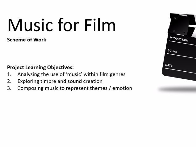 Video Examples for Film Music Scheme of Work