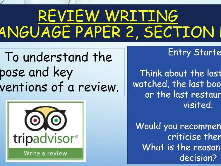 Transactional Writing - Reviews scheme (metacognition approach)