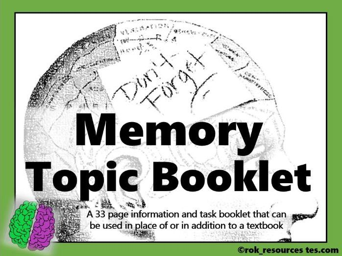 Memory Revision Booklet Psychology AQA A-level