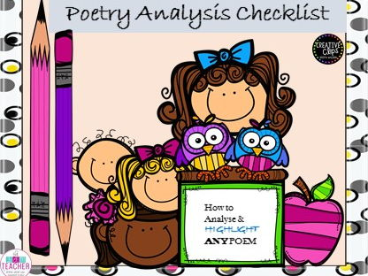 Poetry analysis checklist for any poem