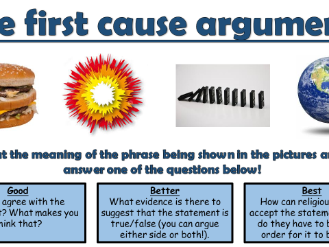 AQA A GCSE Theme C Existence of God and Revelation: Lesson 2 The first cause argument