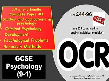 Psychology OCR GCSE (9-1): Complete Paper 1, in one Bundle