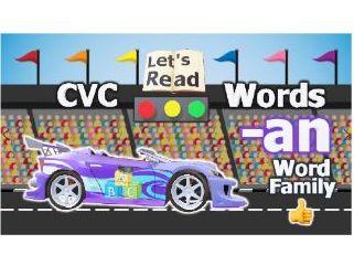 CVC words | consonant vowel consonant | Word Family -AT | CVC Words for Kindergarten