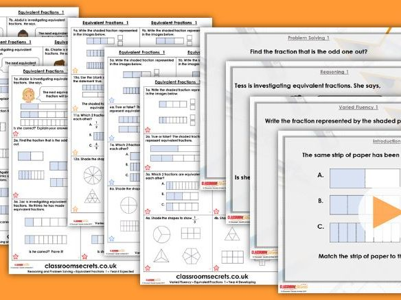 Year 4 Equivalent Fractions 1 Spring Block 3 Step 2 Lesson Pack