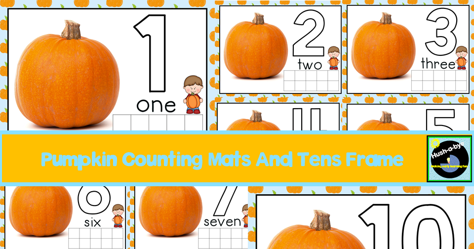 Pumpkin Counting Mats And Tens Frames