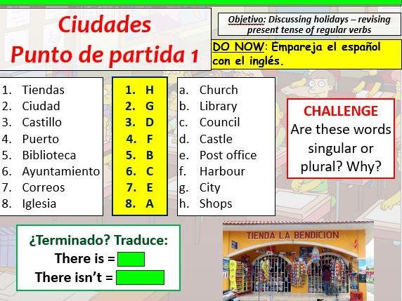 COMPLETE VIVA GCSE FOUNDATION module 5 unit 1 - CIUDADES- PUNTO DE PARTIDA 1 pptx