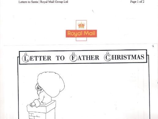Father Christmas Letter 2018