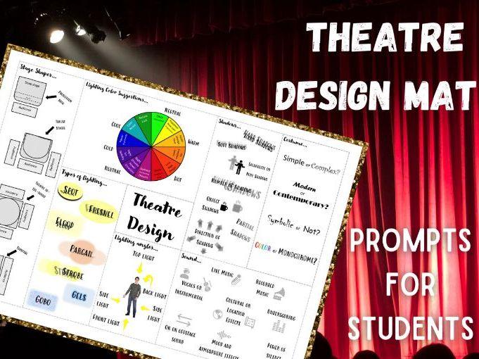 Theatre Design Mat | Prompt Sheet | Visual Choice Board | KS4