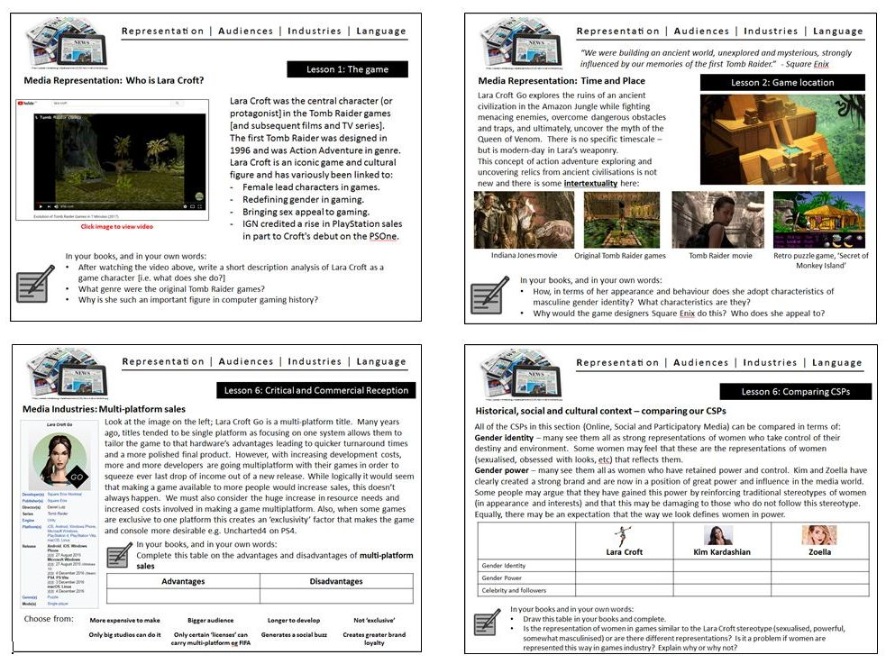 Lara Croft Go GCSE Media Studies Close Study Product CSP Online Social and Participatory