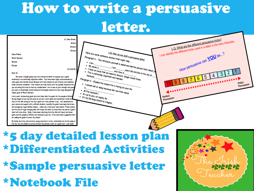 Persuasive Letter Writing Year 5