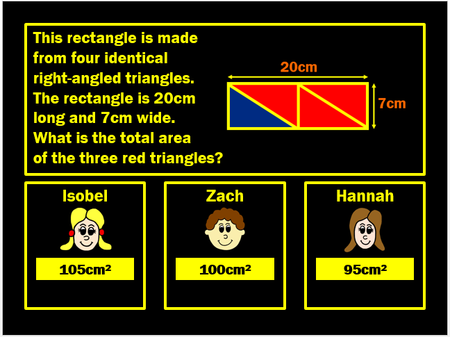 Area of a Triangle Powerpoint Game by Arithmetickx
