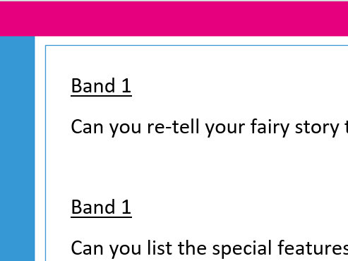 Banded Guided Reading questions on Fairy Tales