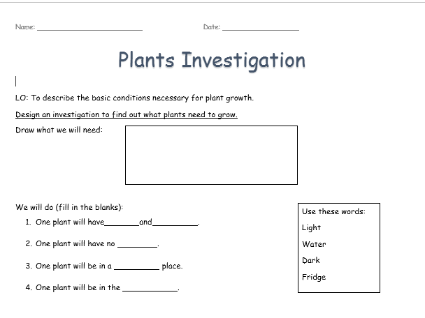 plant growth conditions investigation by louisehurley20 teaching resources. Black Bedroom Furniture Sets. Home Design Ideas