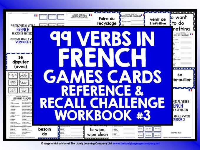 FRENCH HIGH-FREQUENCY VERBS REVISION #3