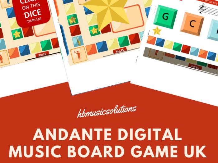Andante Digital Interactive Board Game UK Version
