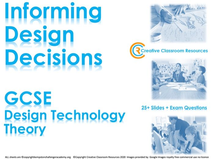 GCSE DT Theory (New Spec) – Informing Design Decisions