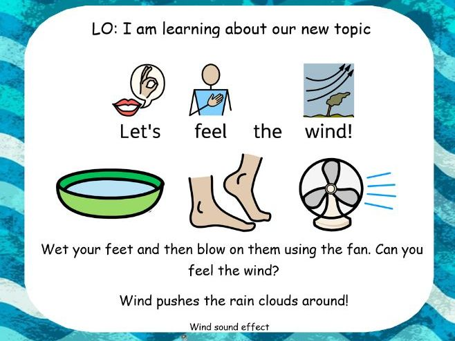 Sensory SEND water activities / topic intro. Sensory story. MLD PMLD