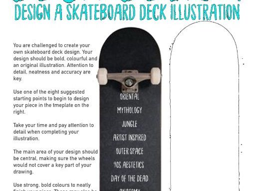 Art & Design Cover Lesson - Skateboard Deck Illustrations