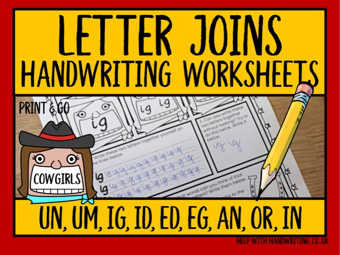 Letter joins: un,um,ig,id,ed,eg,an,or,in