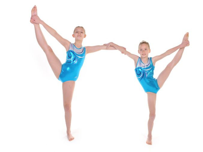 Pair and Trio Gymnastics One Foot Balances by Head Over Heels Gymnastics