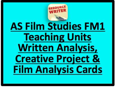 WJEC AS Film Studies FM1 Coursework Bundle
