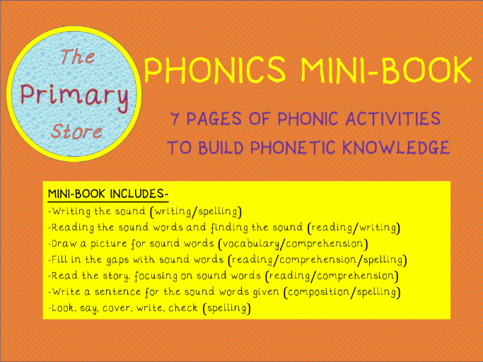 OO (Short OO sound) PHONICS SOUND MINI-BOOK