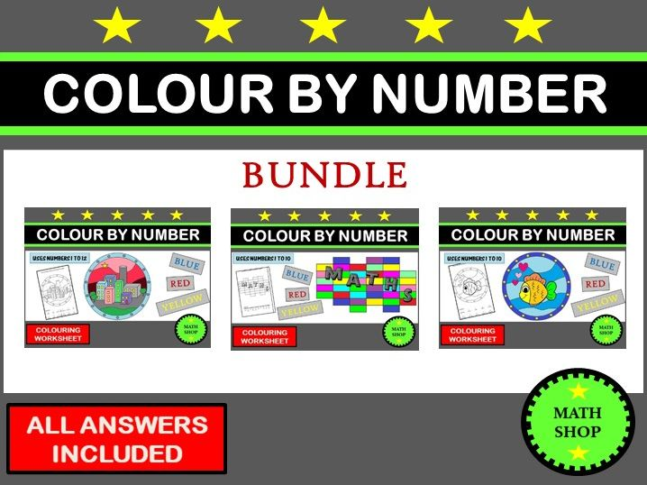 Colour By Number Bundle